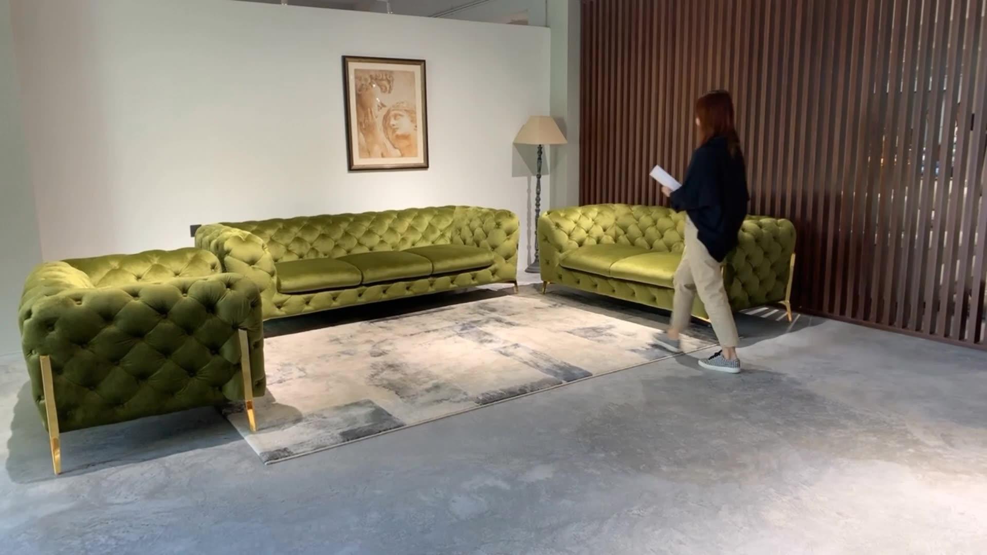 321 Chesterfield designs modern italian sofa set living room furniture
