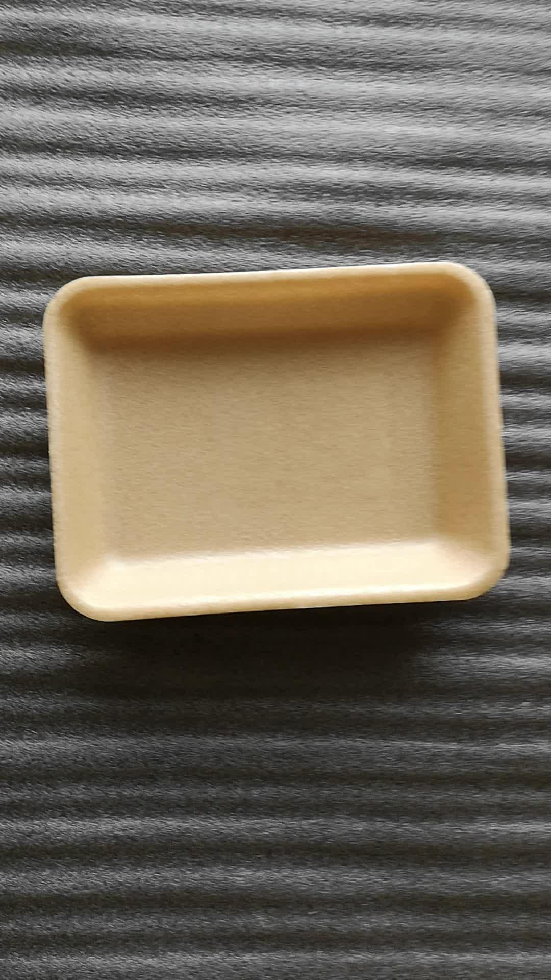 Кукурузный крахмал одноразовые пены биоразлагаемые упаковки для пищевых продуктов лотки