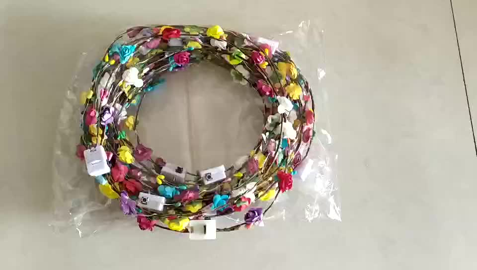 Trang Trí bên và Năm Mới Sinh Nhật Nhân Dịp đám cưới Thời Trang LED Hoa Hairband floral headband