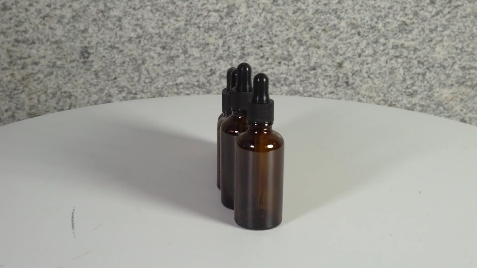 琥珀色の精油ロールグラスロールオン香水瓶 10 ミリリットル