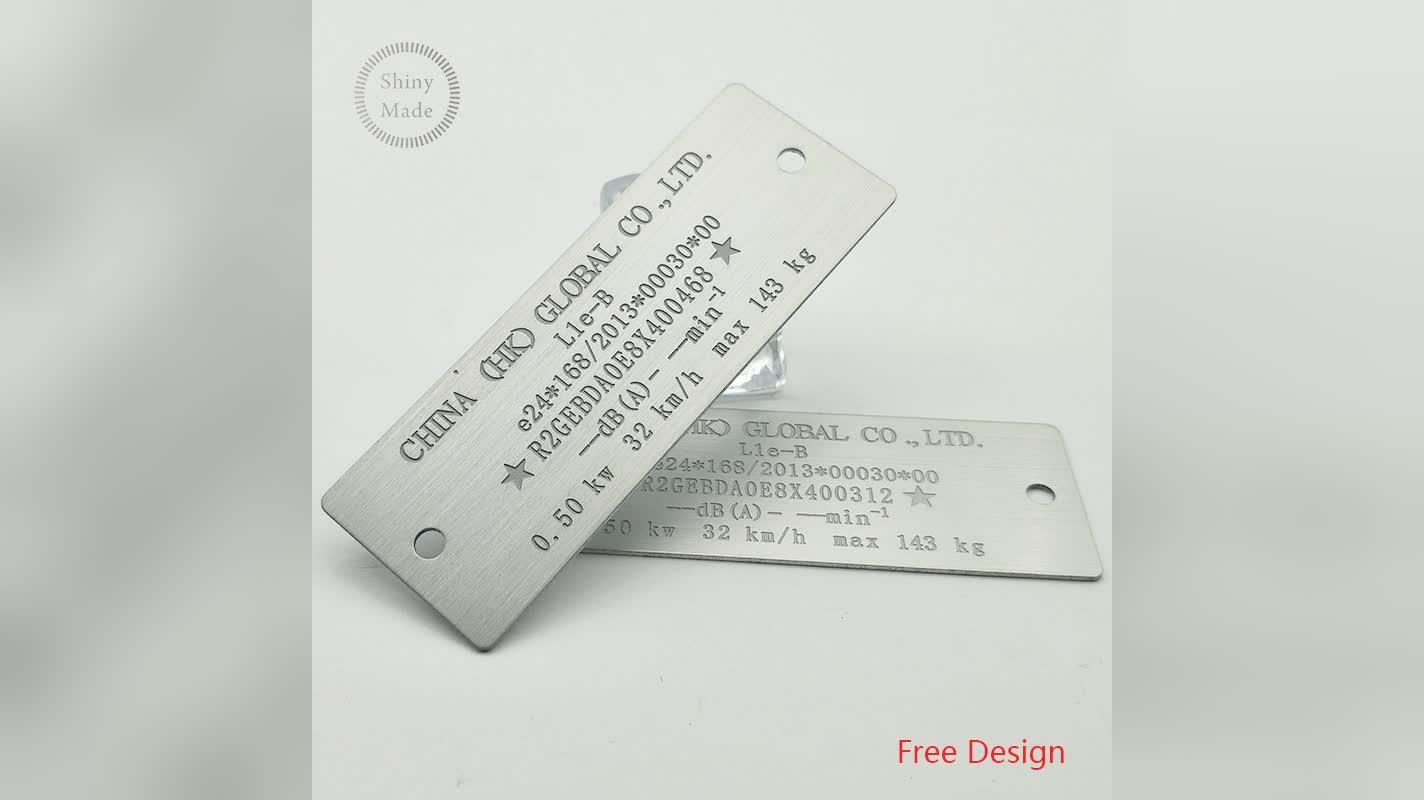 Placa de identificação feita sob encomenda barata por atacado do metal do logotipo, etiqueta de aço inoxidável, placas feitas sob encomenda do nome do metal
