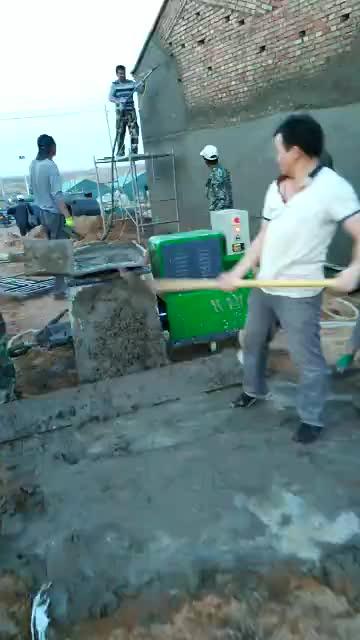 Mur de Pulvérisation de Mortier Plasterning Machine/Machine de Pulvérisation De Mortier de Ciment/Machine de Rendu