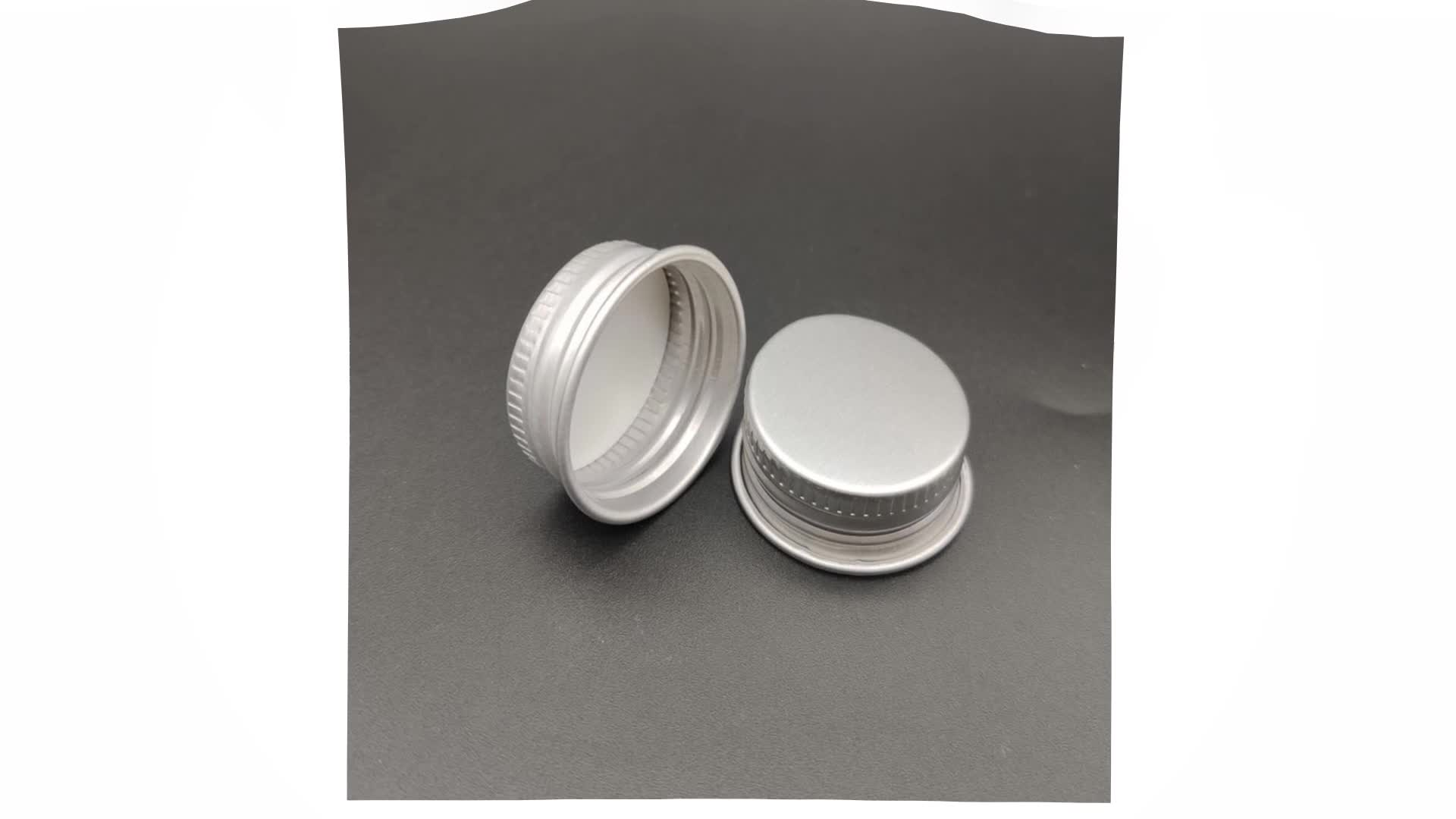 18mm Silver Metal cap closure aluminium easy open lid for bottle
