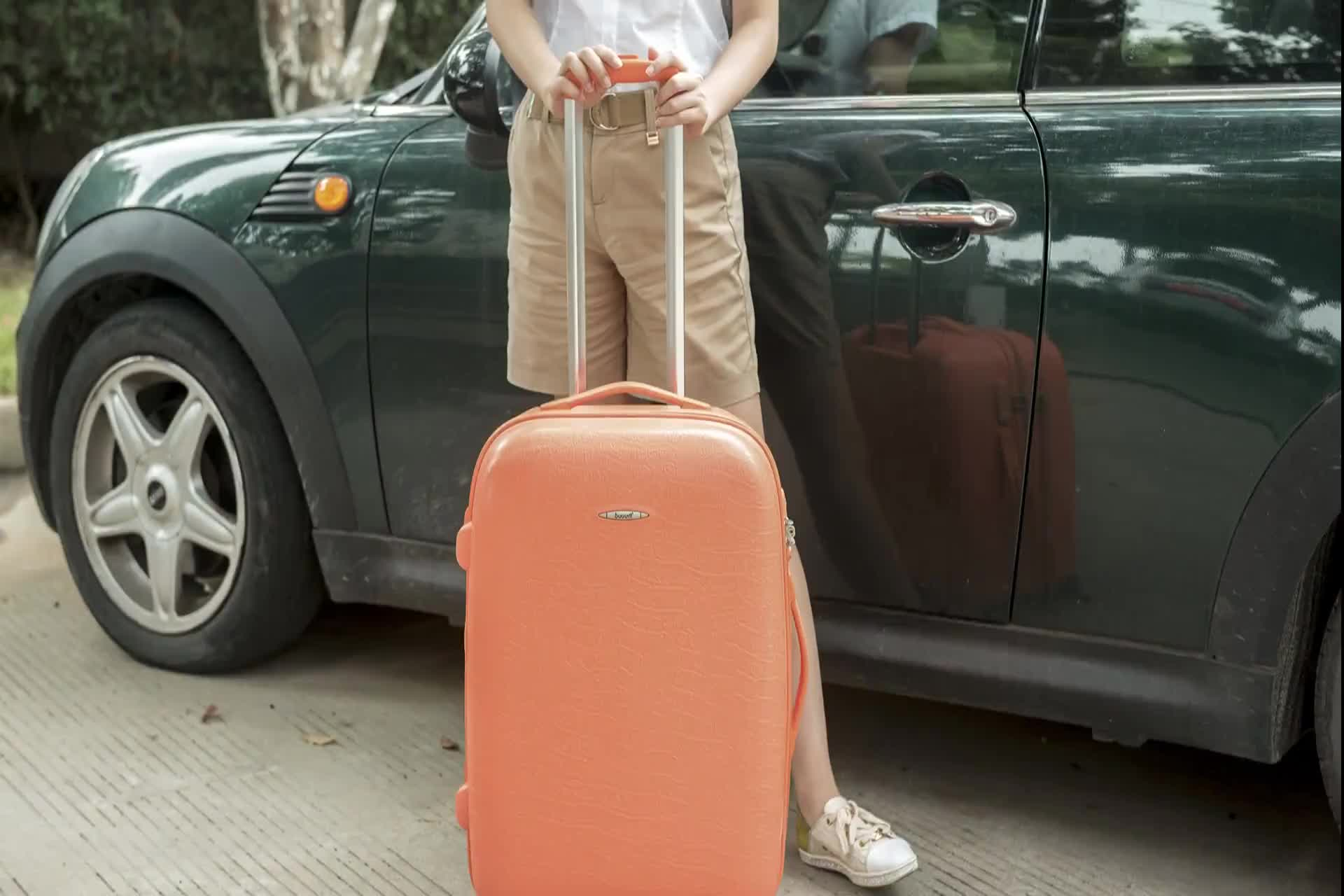 """BUBULE 19"""" 23"""" 27"""" Colorful PP Travelling Trolley Luggage Bag"""