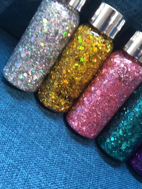HANDAIYAN Makeup Gezicht Lichaam Haar Glitter Gel Langdurige Waterdichte Shimmer Diamond Eyeshadow Gel