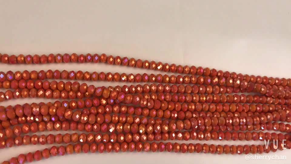 8x6mm Faceted Crystal Glass Loose Beads