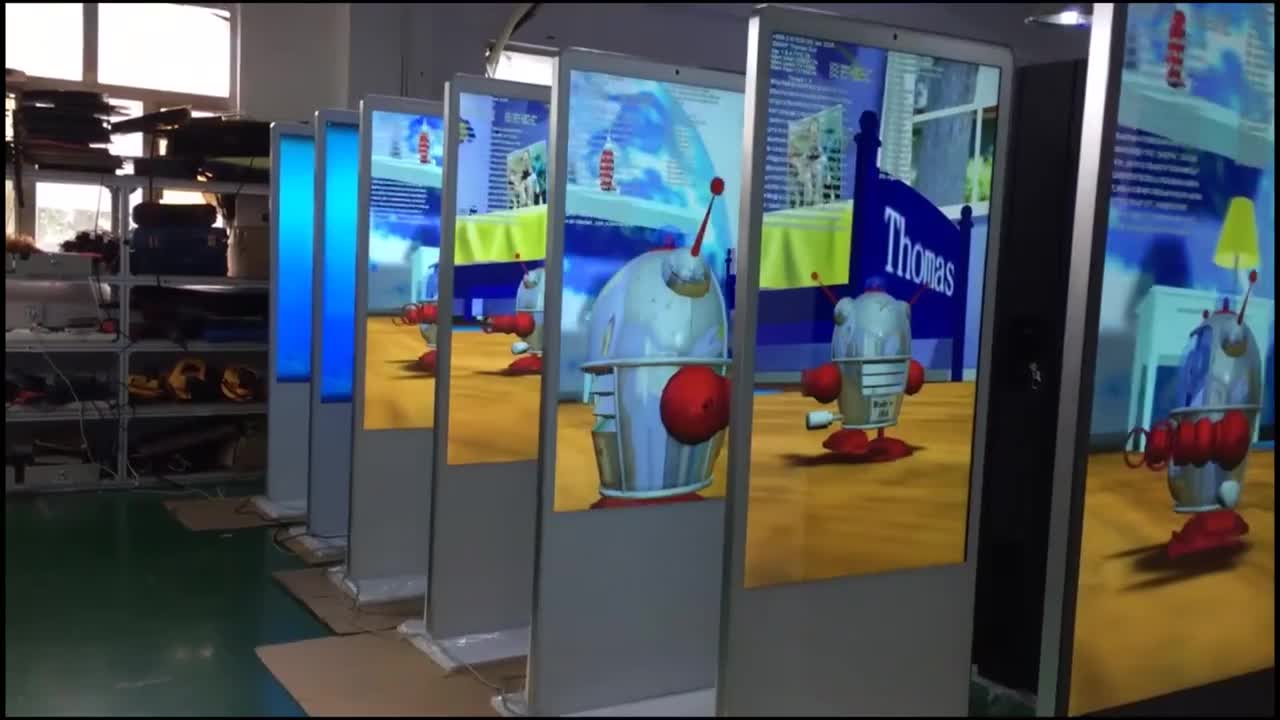 Promo Customized Lcd Digital Poster Display Standing Digital Signage FHD Touch Screen Advertising Display