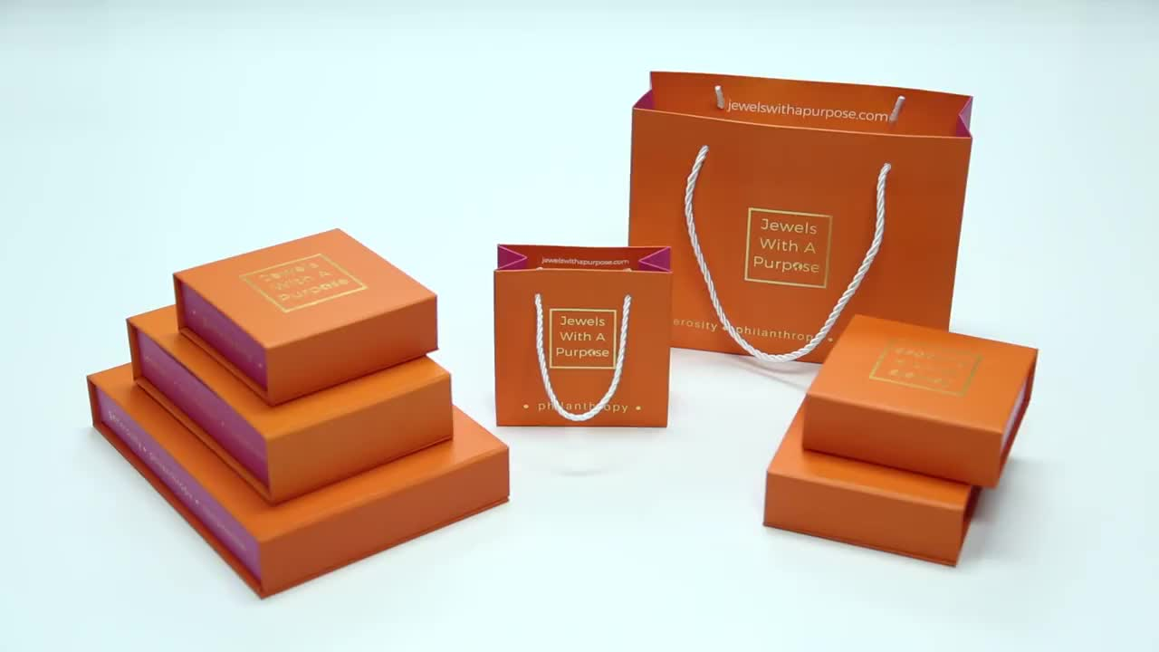 Wholesale logo printing 24k gold necklace packaging wedding jewelry set box