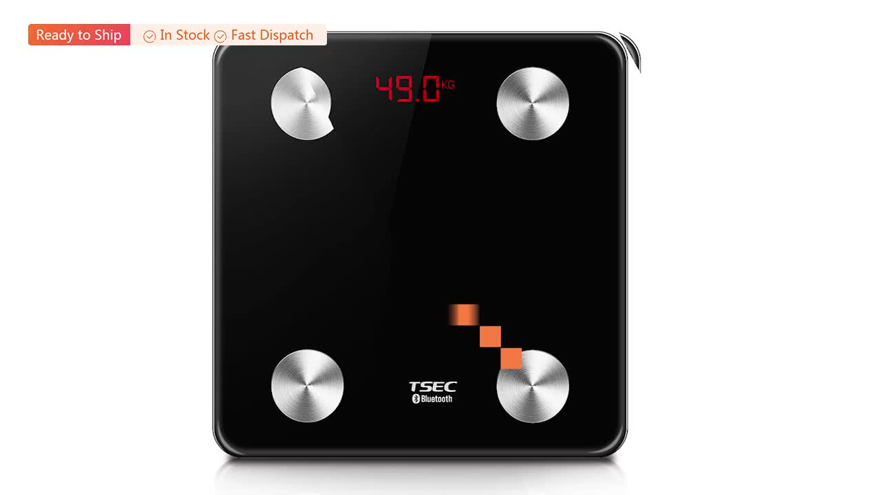2019 alibaba hot sale Custom Promotion 180kg/400lb Digital Household Bluetooth Smart Body Fat Weighing Scale
