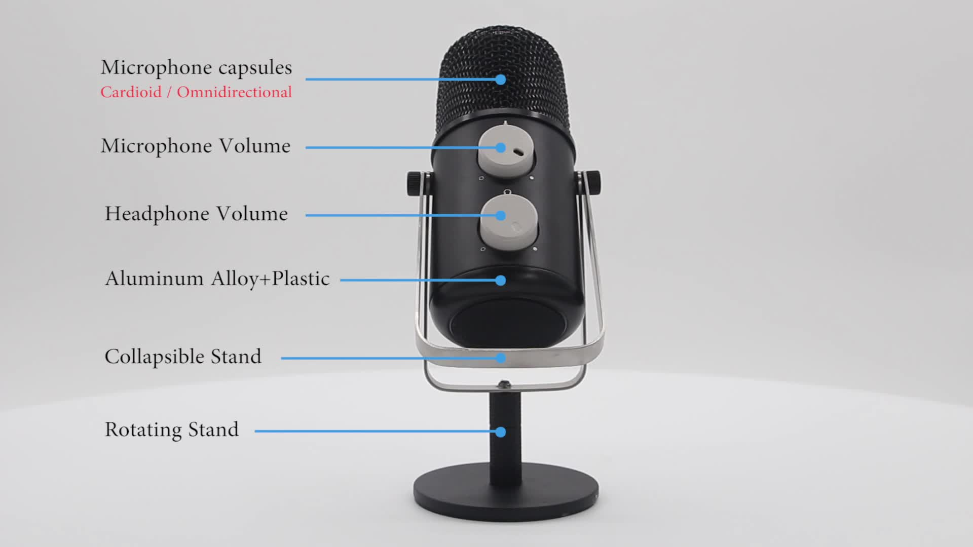 Inexpensive Good recording Stand Desktop microphone for computer