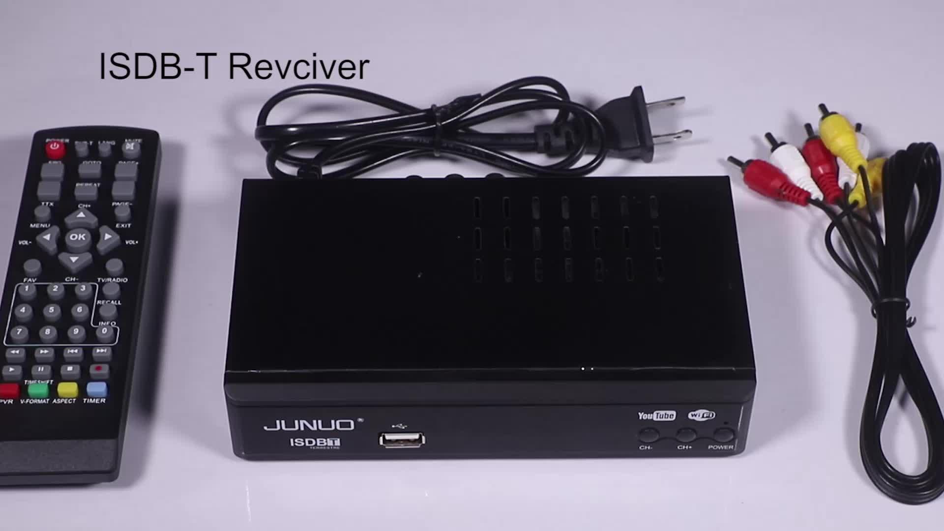 JUNUO STB factory free to air digital hd receiver 1080p set top box full HD ISDB-T