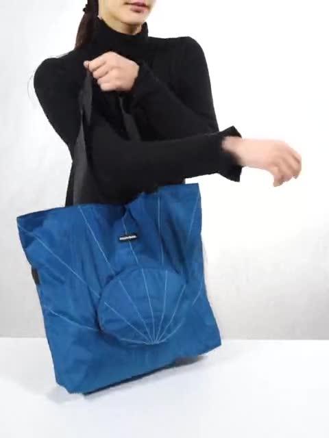 OEM Mode Réutilisable de Concepteur Femmes Dame Sacs À Provisions En Nylon de Voyage En Cuir Sac Fourre-Tout Pliant