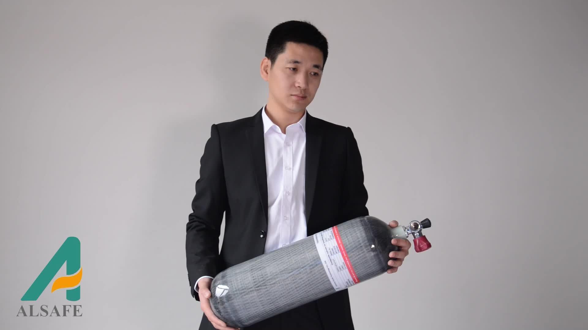 Top quality 300bar in fibra di carbonio scba serbatoio d'aria filo 5/8-18unf