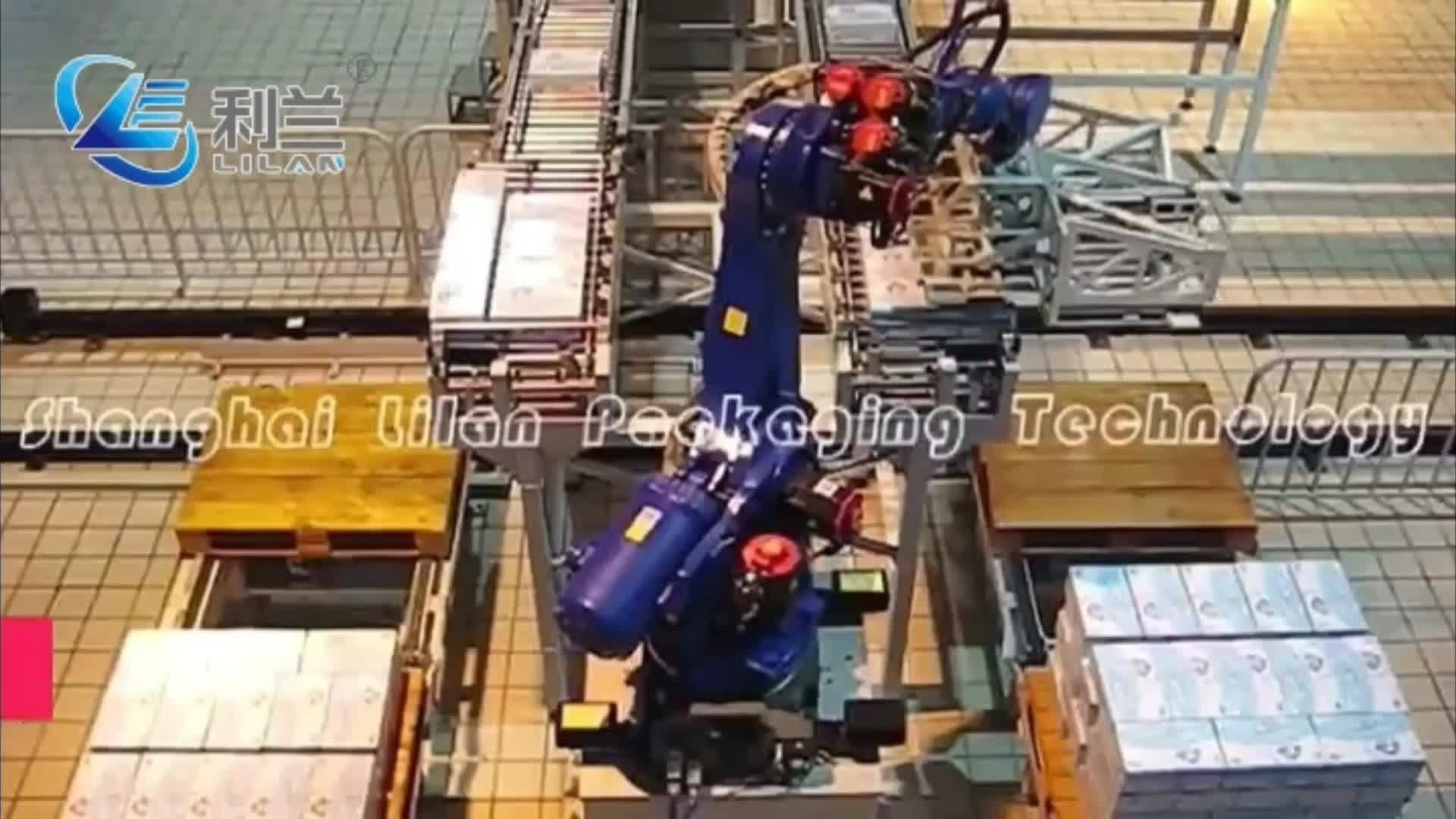 Shanghai lilan marca di Alta Qualità Piena di grandi dimensioni Automatico robot palletizer prezzo per il sacchetto di cemento