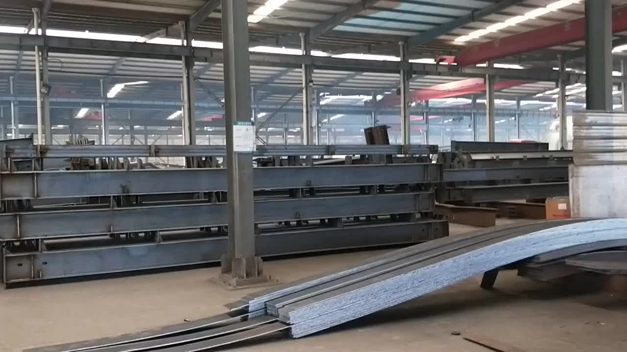 Low Cost Steel Structure Industrial Factory Shed/Warehouse/Building Designs with Mild Steel Construction Materials in Oman