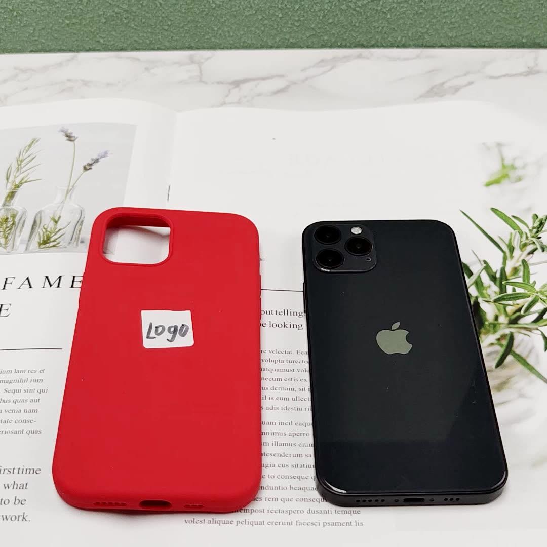 68สีของเหลวซิลิโคน Rubber Case โทรศัพท์มือถือสำหรับ Iphone 11 12 12 Mini 12 Pro 12 Pro Max