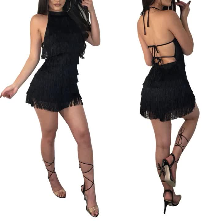 Wholesale Club Dresses 2018 Tassel Dress Womens Sexy Clothing Fashion Women Jumpsuit