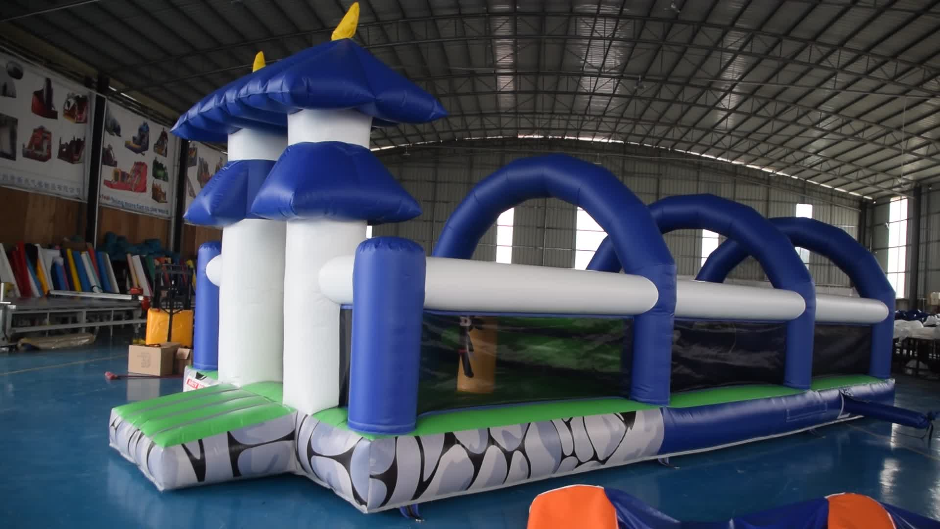 Factory price  simple style inflatable  jumping bounce combo game with slide for kids