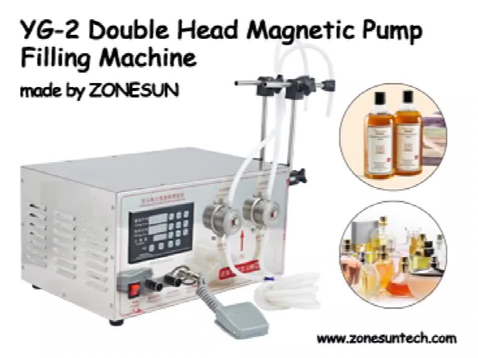 ZONESUN YG2 5ML To Unlimited Double Heads Magnetic Pump Bottle Liquid Filling Machine