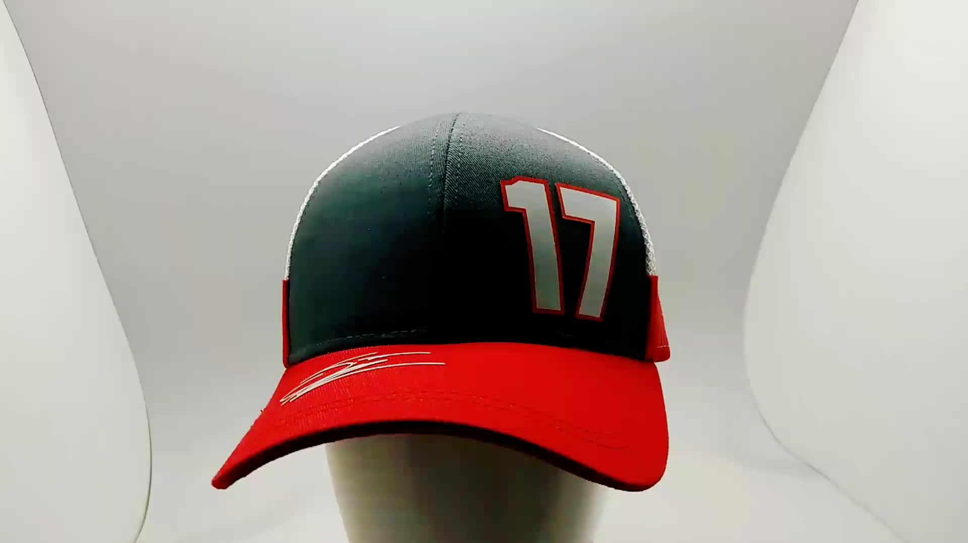 ファッションスポーツ野球キャップ高密度プリントロゴ野球キャップ