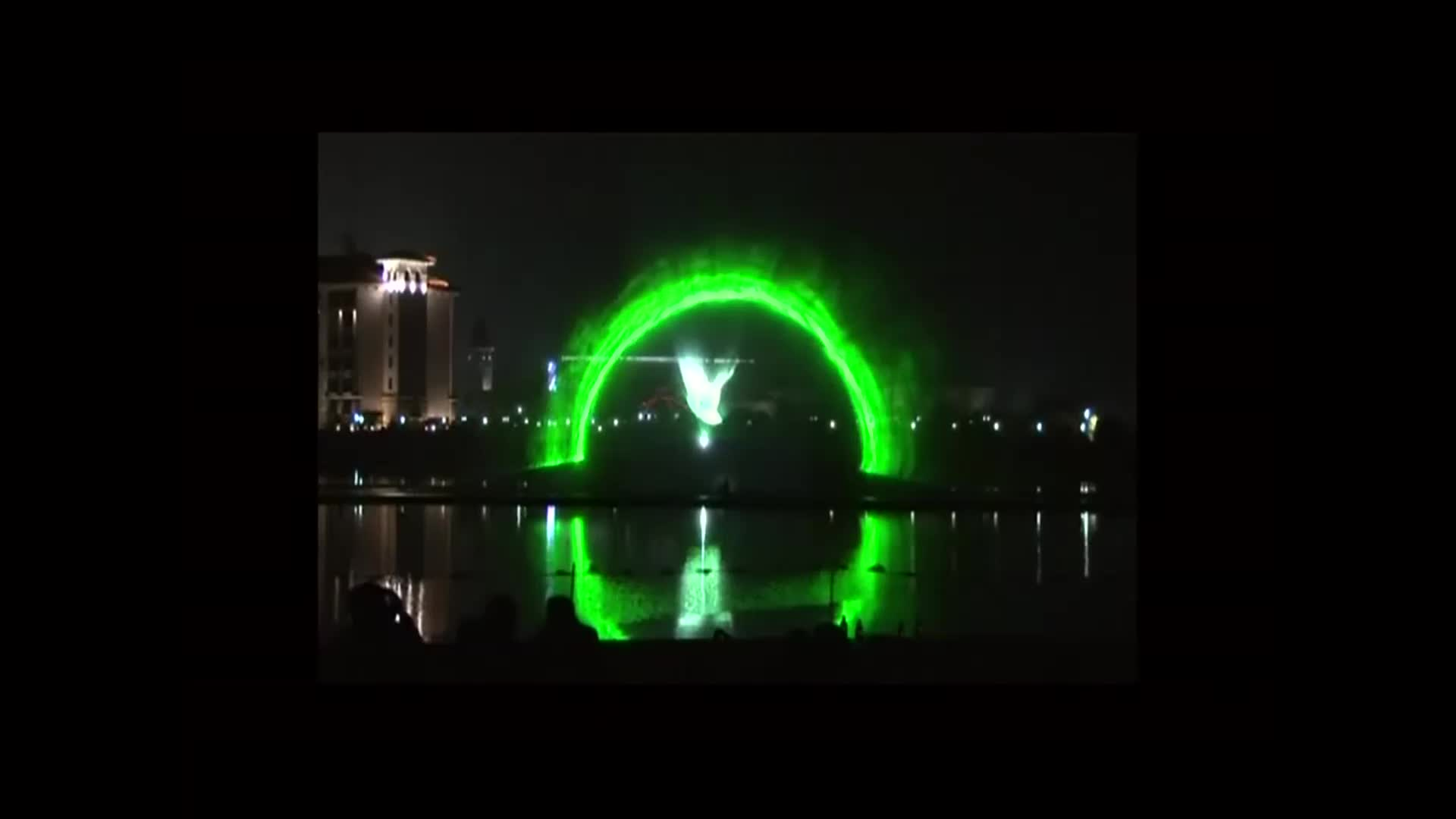 Water Screen Movie 3D Mapping Projection Fountain Show