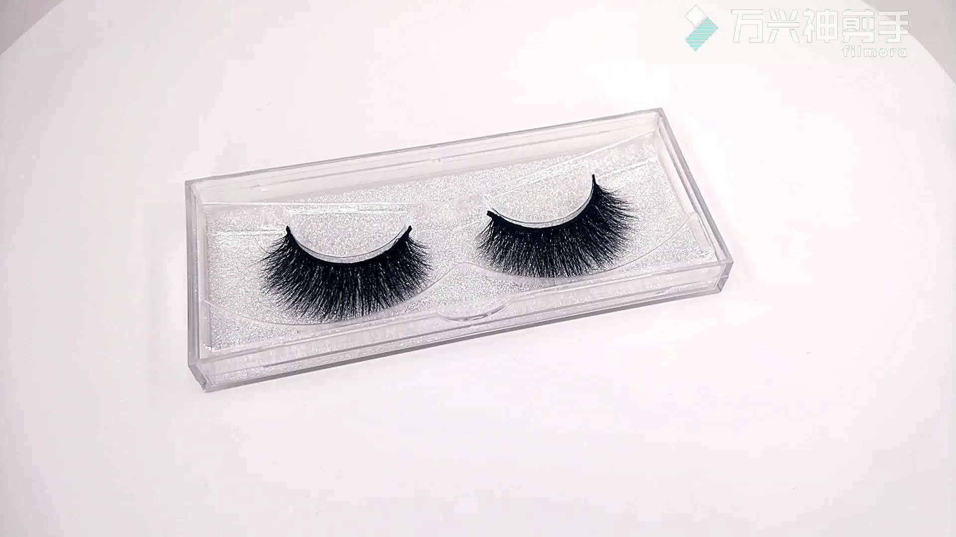 100% ยี่ห้อของตัวเองบรรจุภัณฑ์ 3D Soft Mink Strip ขนตา