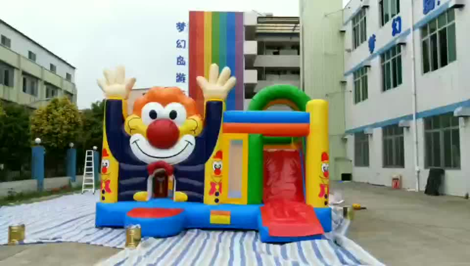 Inflatable jumping bed / inflatable bouncer with slide,set trampolines slide for kids and adults