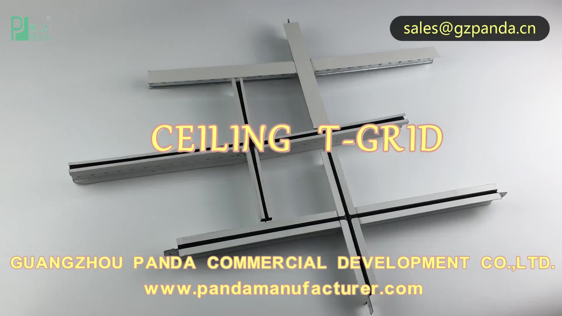 T Bar Suspended Ceiling Grid Aluminum Alloy