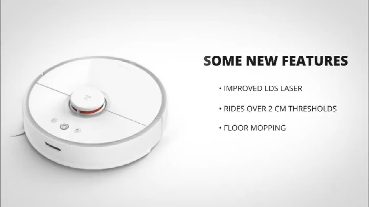 Smart Robot Vacuum Cleaner Original Xiaomi Roborock S50 for Home Automatic Sweeping Dust Mobile App Remote