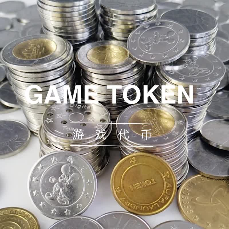 Popular in express arcade game machine token coin 2 sided custom tokens