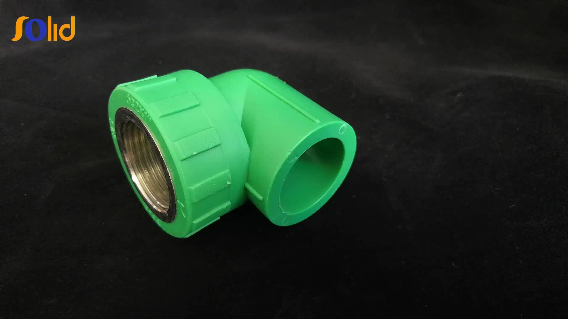 Resistente al calore PPR tubo di plastica idraulico raccordo 90 gradi filettatura femmina gomito