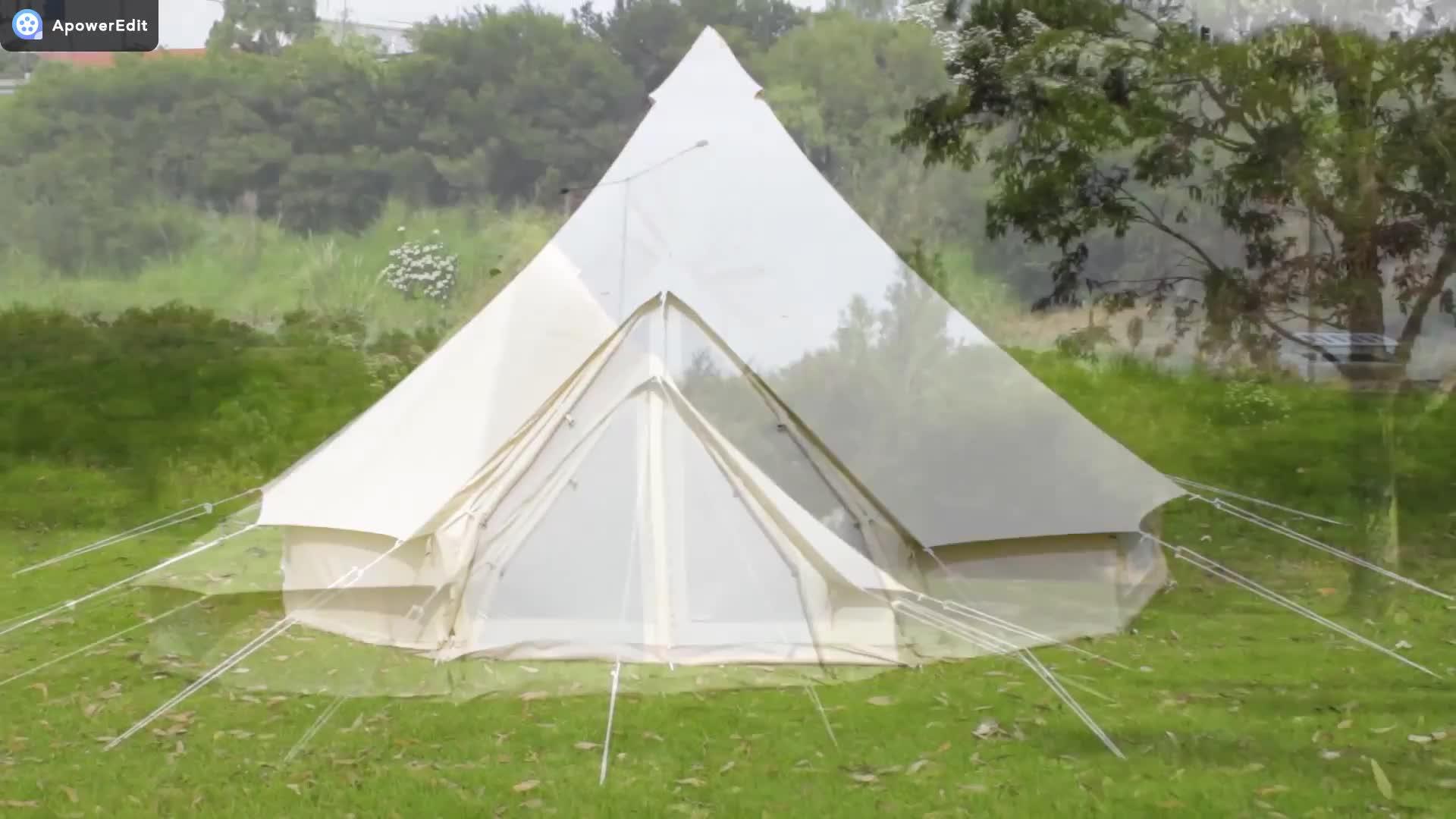 방수 야외 캠핑 면 Canvas 5 메터 벨 텐트 천막 유르트 Glamping 텐트