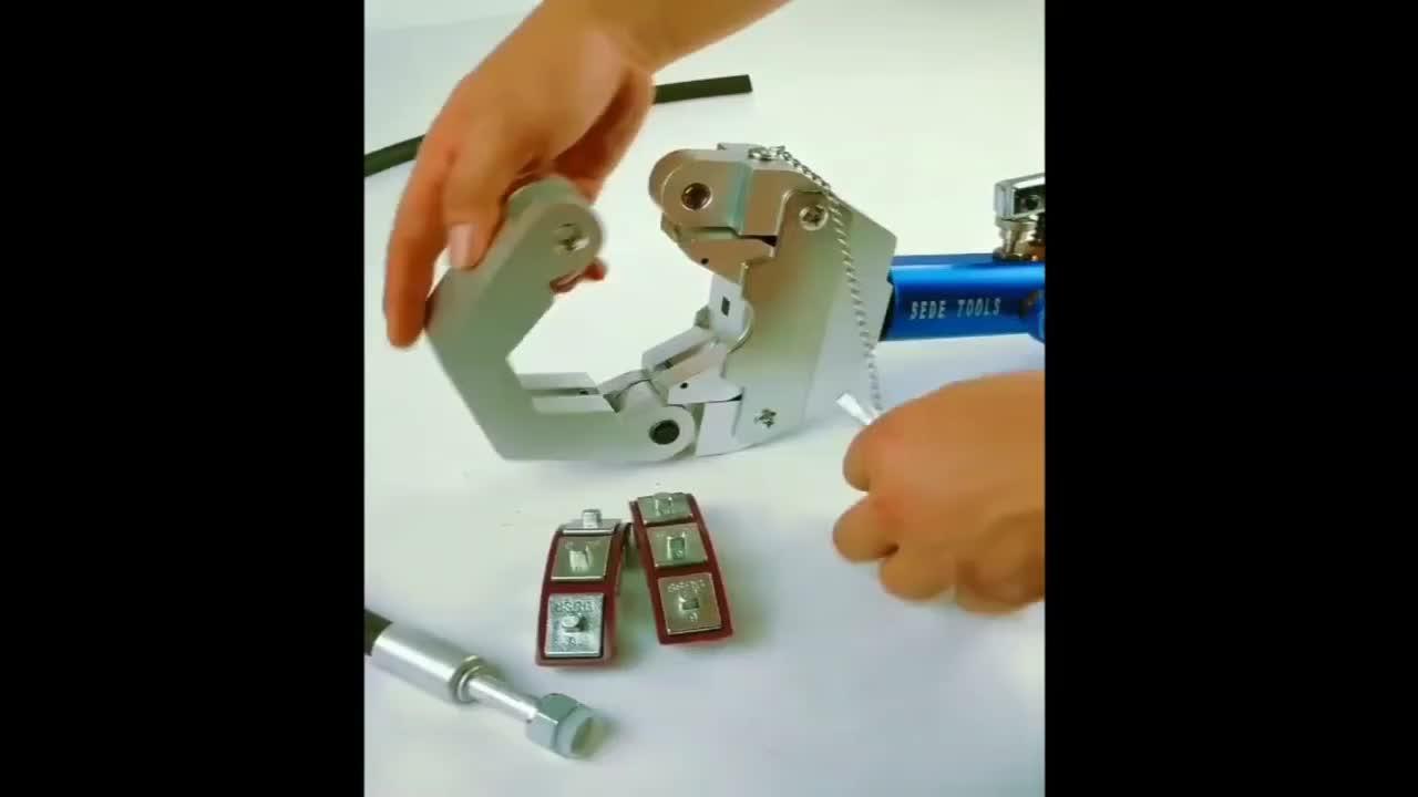 Kit de herramientas de prensado de manguera de CA hidráulico Manual 71500