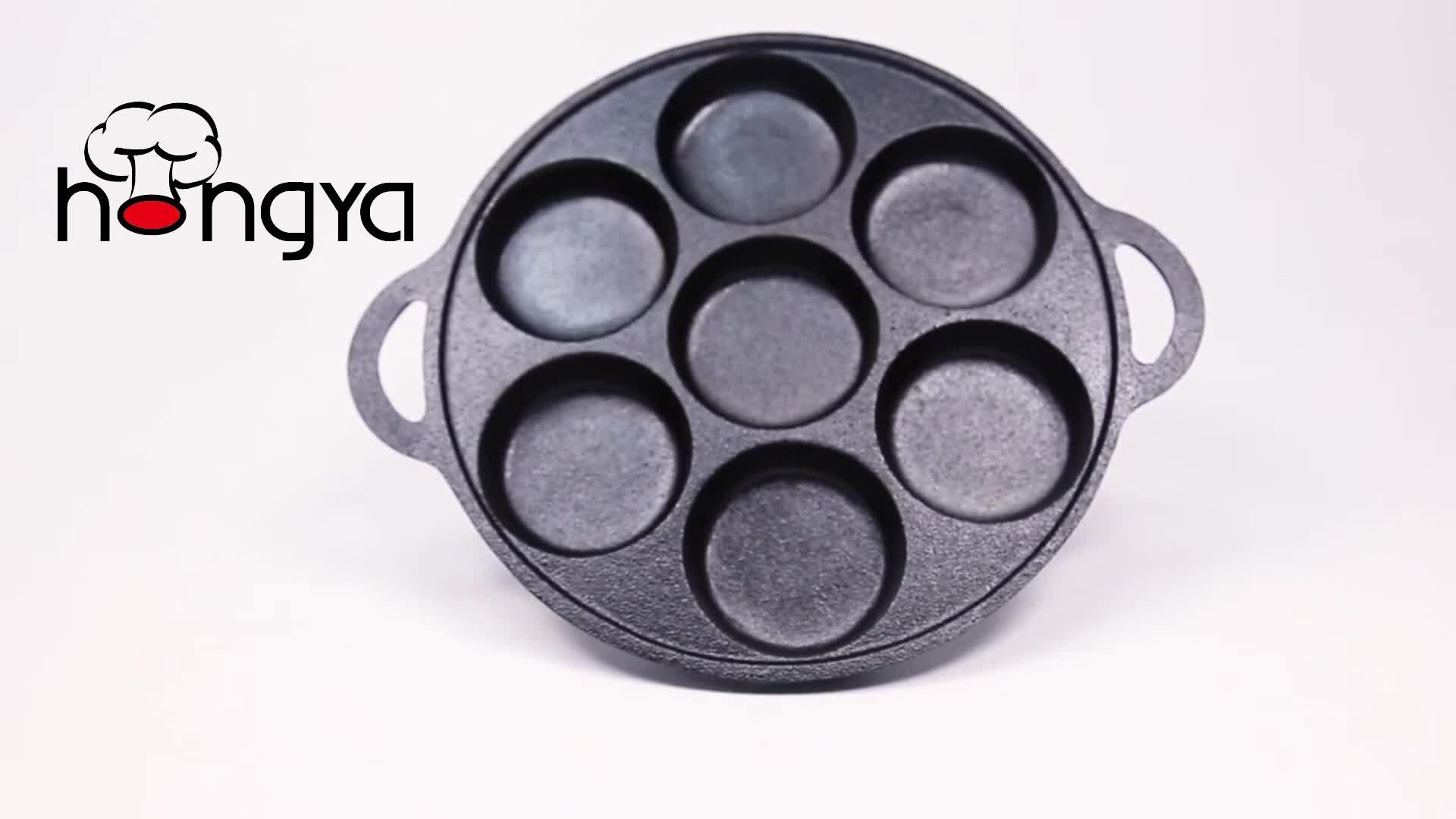 7 Lubang Besi Cor Bakeware Kue Loyang dengan Kualitas Baik Minyak Sayur Pembuat Muffin Harga