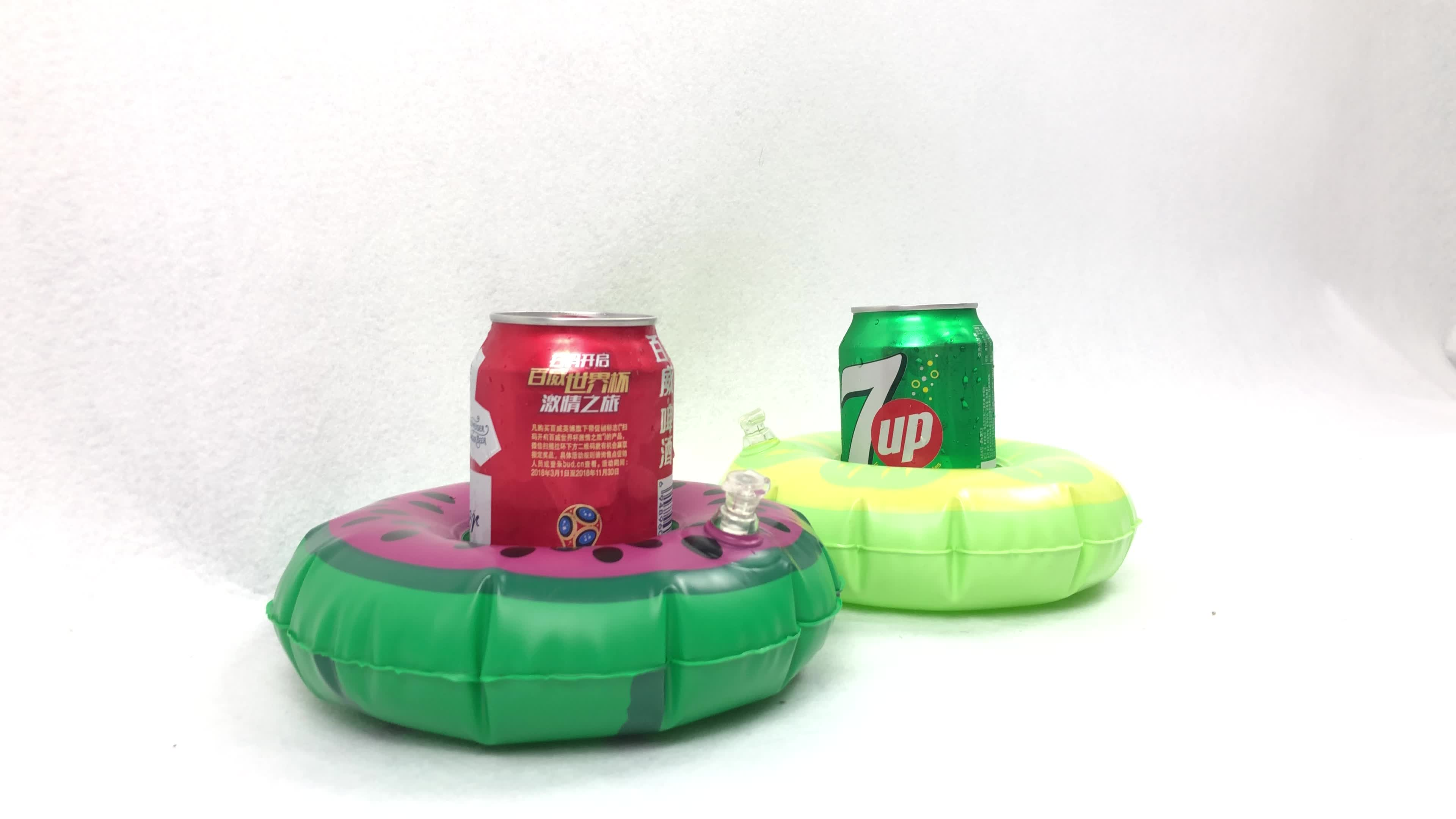 Newest lovely Donuts cup holder Toy Party Drink Cup Holder  Pad Coasters Swimming Pool Summer Party