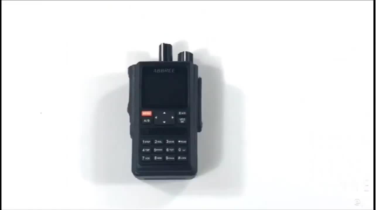 Abbree AR-F8 1.77LCD 999CH GPS Daya Tinggi Semua Band (136-520 MHZ) frekuensi/Ctcss Deteksi Jarak Jauh Walkie Talkie Radio