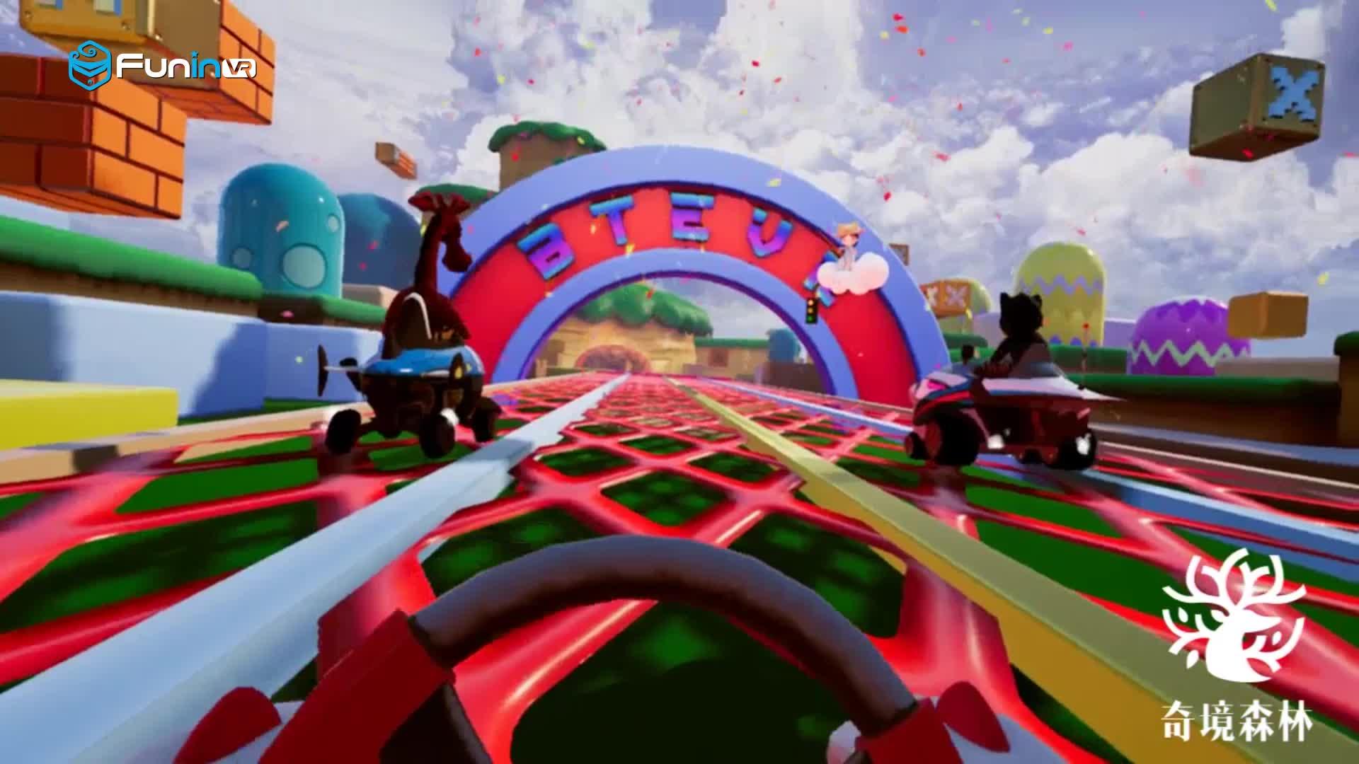 Earn Money Quickly! VR Racing Kart 9d Vr Simulator Dynamic Platform VR Game machine