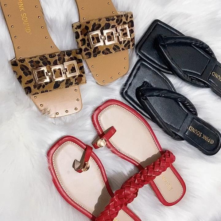 도매 새로운 디자인 여성 샌들 저렴한 여름 패션 슬리퍼