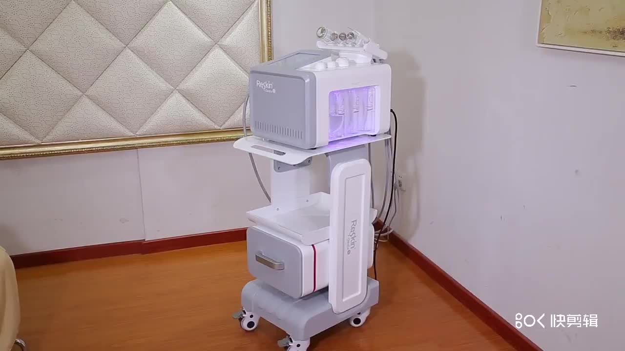 Beauty Clinic Reskin Microcurrent Face Lift Blackhead Remover Vacuum Microdermabrasion Machine
