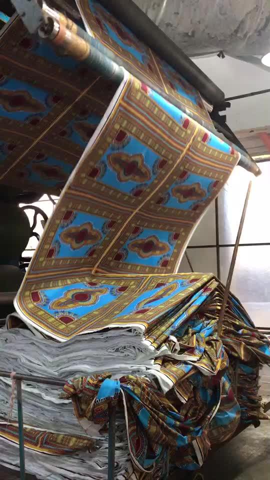 ผ้าขี้ผึ้งแอฟริกันขี้ผึ้งผ้าพิมพ์สำหรับเสื้อผ้าเสื้อผ้าตลาดแอฟริกาตะวันตกไนจีเรีย