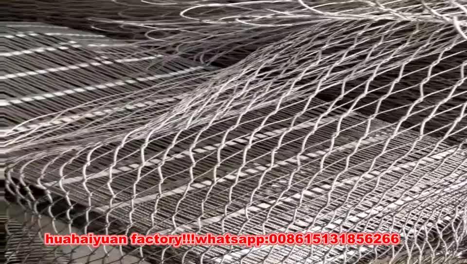 zoo mesh Animal enclosure netting stainless steel aviary rope mesh