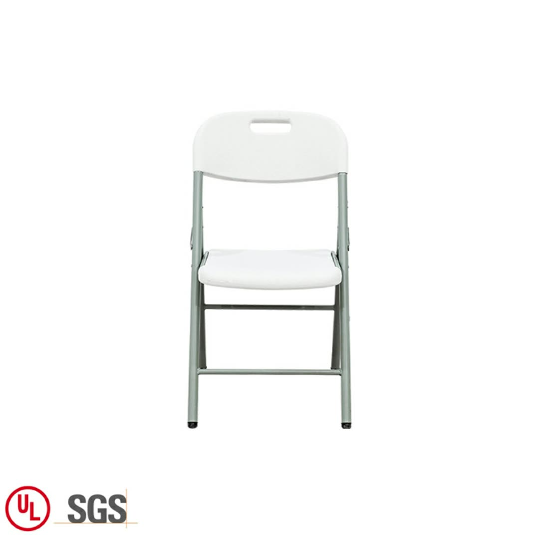 Plastic Furniture Garden Wedding Stackable White Folding Garden Chair