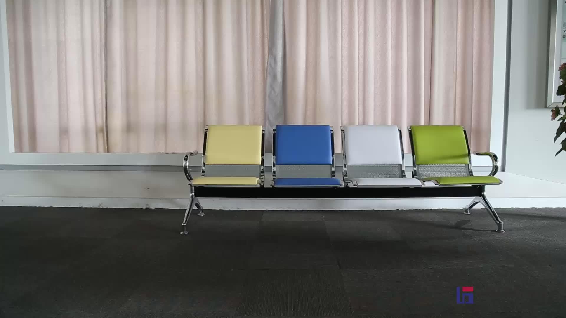 A buon mercato in acciaio in attesa sedie della sala per l'aeroporto ospedale ufficio panchina in attesa sedia fila