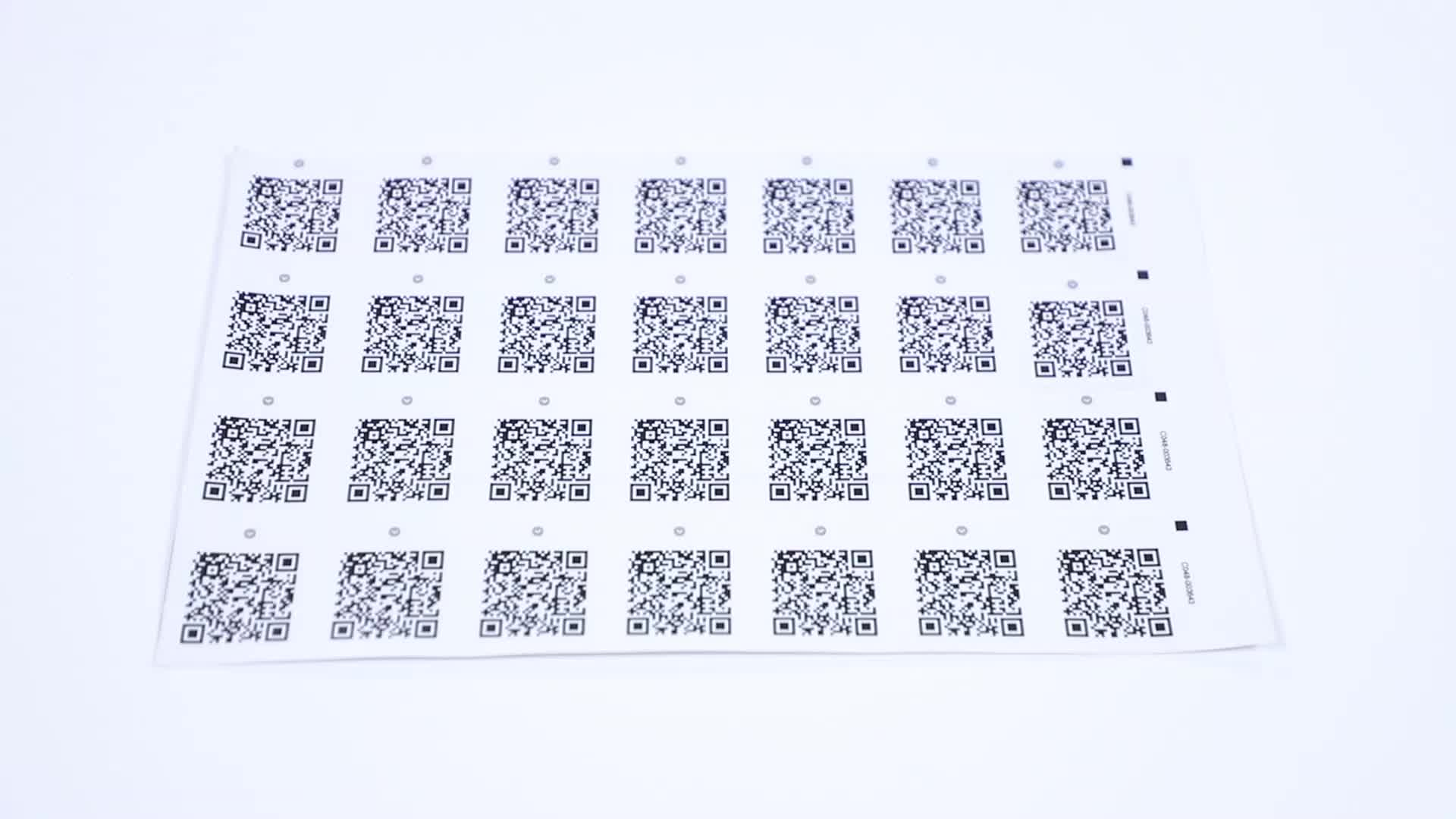 Custom Print Digital Unique Stickers Variable QR Code Different Serial Number  Adhesive Labels Security Barcode Label Sticker