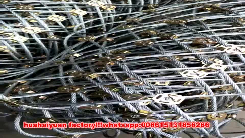 rope netting SNS Active Slope Protection And Safety Netting System For Rock Fence Barriers