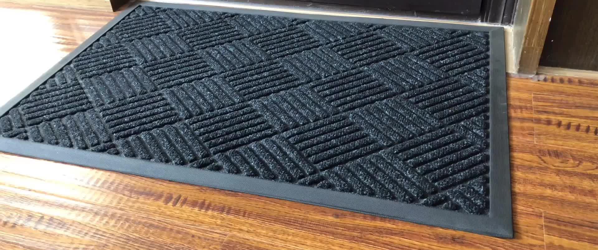 40x60 cm 45x75 cm 60x90 cm Lavable Intérieur/Extérieur Profil Paillasson avec Design tapis d'entrée pour La Maison D'entrée Extérieur À L'intérieur