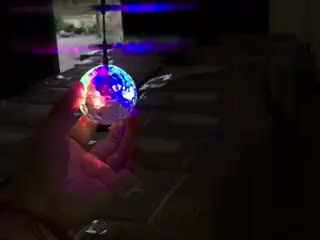 XH-608 Kids Novelty Toys - Induction Magic Flying Crystal Ball Helicopter Ball with LED Disco Flashing