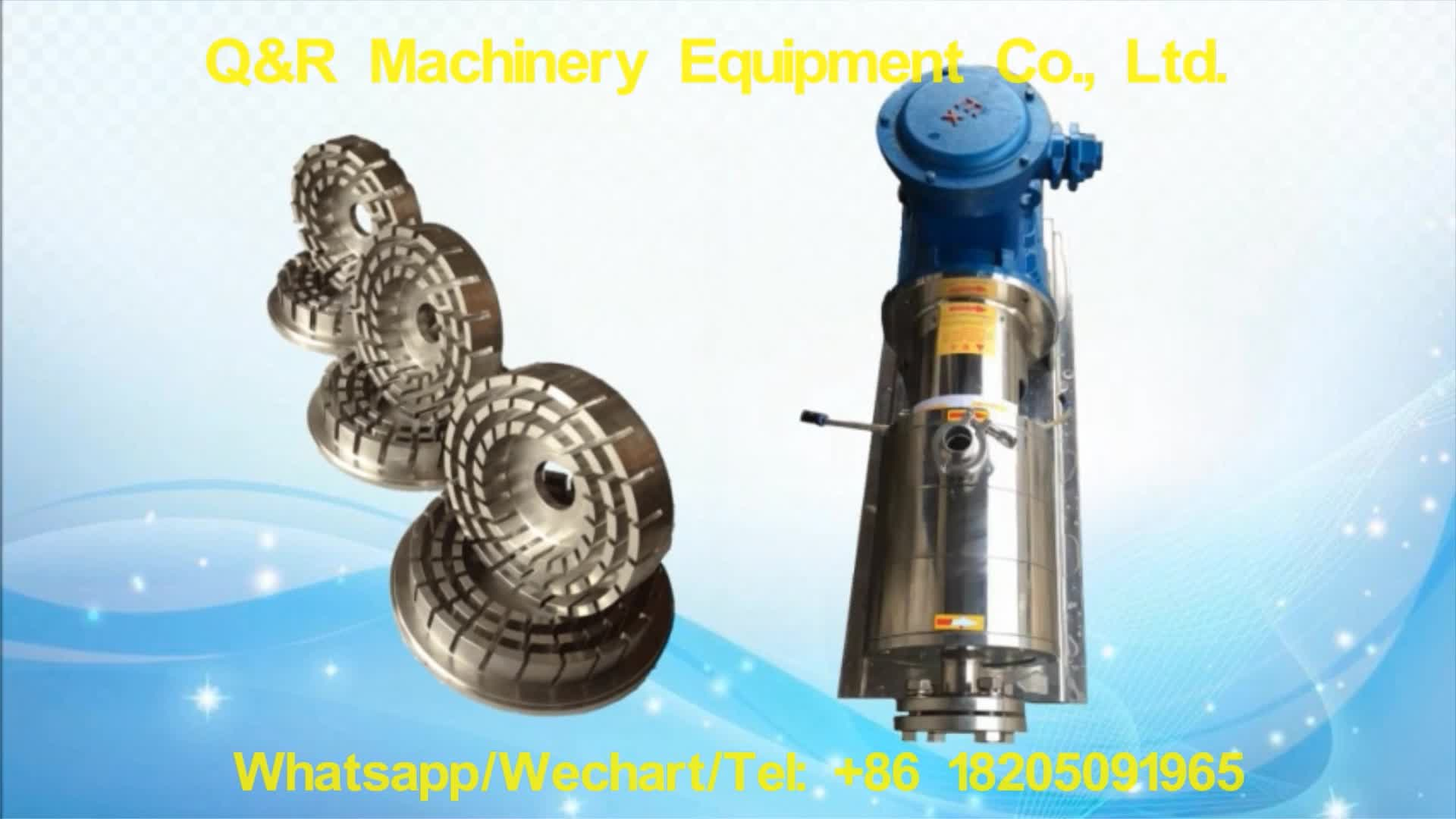 Food High-performance high shear in line water and powder mix emulsifier pump with hopper