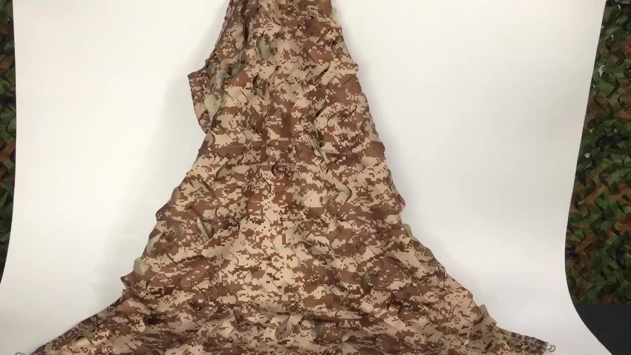 Wholesale army sandy camo mesh netting military waterproof 6m*6m desert camouflage net