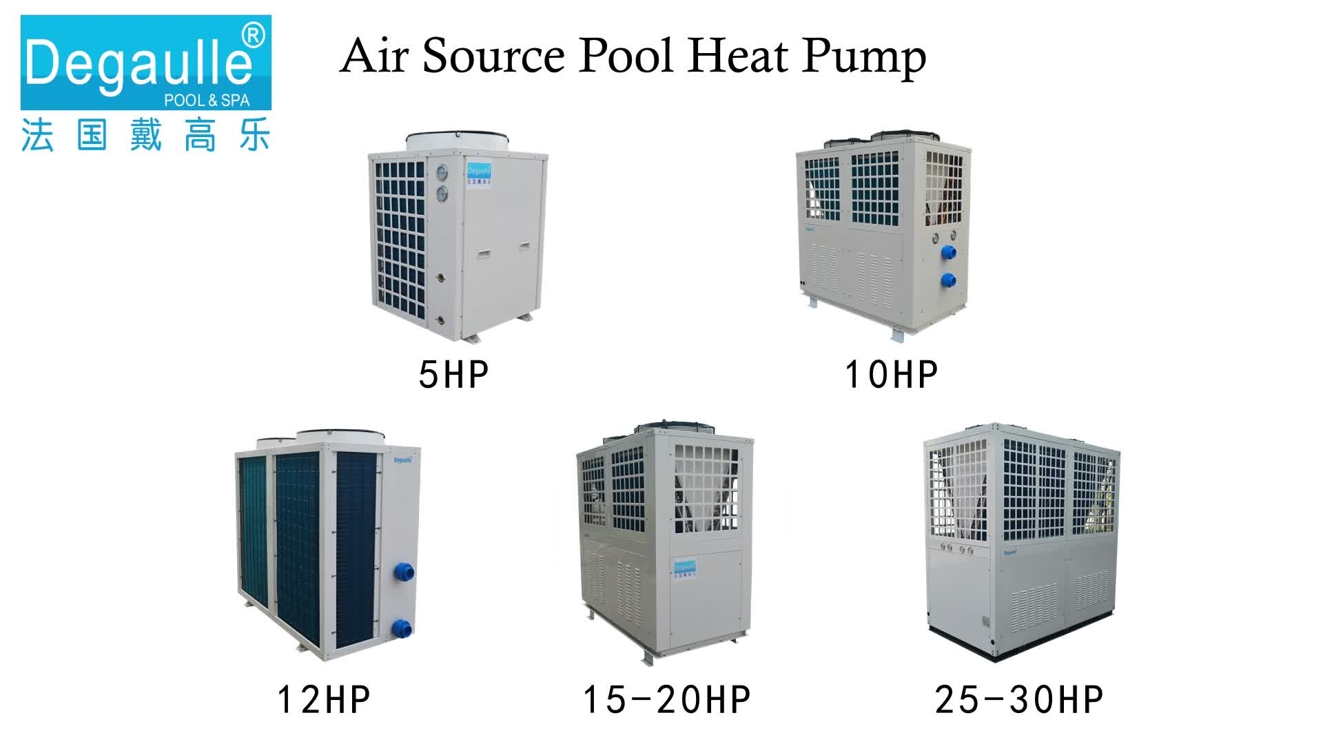 Degaulle Heat Pump Air To Water Air Source Heat Pump China Heated Pool